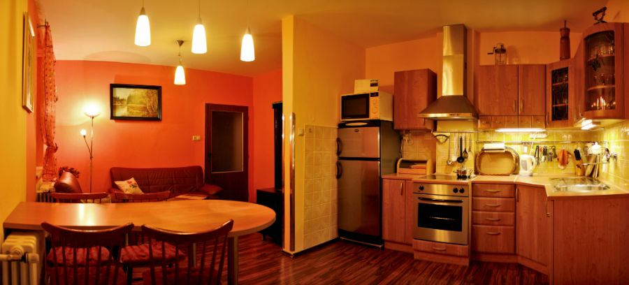 Privát Bednár - Obývačka, kuchyňa